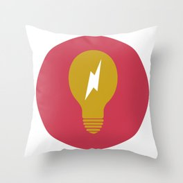 Lightning Bulb Throw Pillow