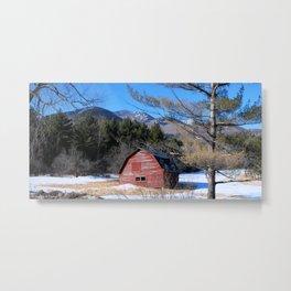 Deserted Barn in the Adirondacks Metal Print