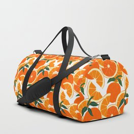 Orange Harvest - White Duffle Bag