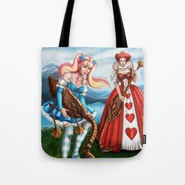 Steampunk Gothic Lolita Alice Croquet Tote Bag
