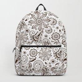 Mehndi or Henna Flowers Backpack