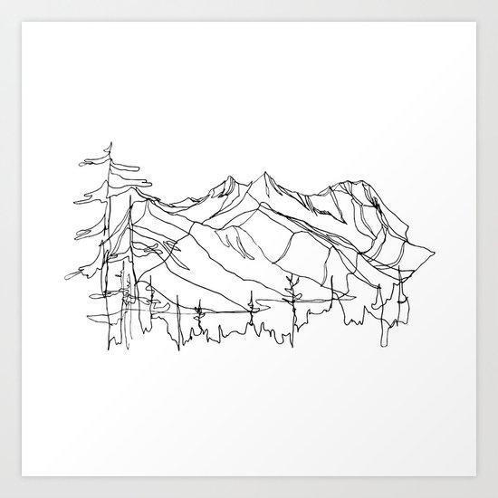Squamish Summits :: Single Line by jessagilbert