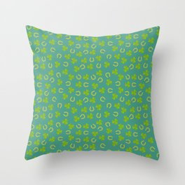 St. Patrick's Day shamrock pattern Throw Pillow