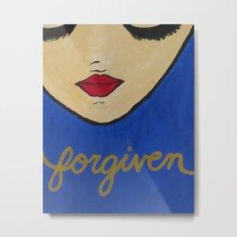 Forgiven Blue Metal Print