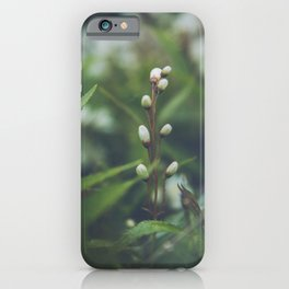 Little white flower buds iPhone Case
