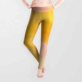 Marigold Sunset Abstract Leggings