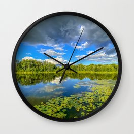 Reflections on a Pond Wall Clock