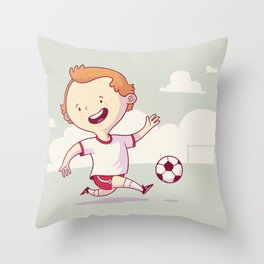 Street Soccer Throw Pillow