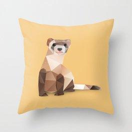 Ferret. Throw Pillow