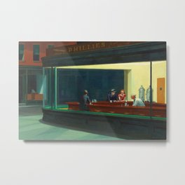 Nighthawks by Edward Hopper Metal Print