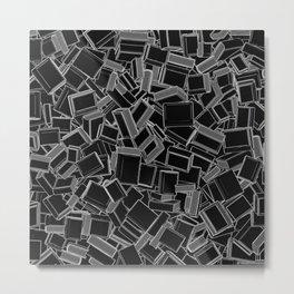 The Book Pile Metal Print