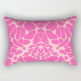 Pink Inkblot Test Print Rectangular Pillow