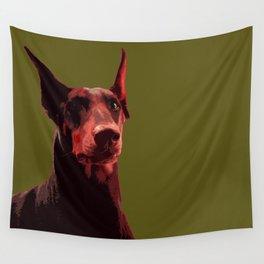 Doberman, majestic dog Wall Tapestry