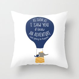 Babar-As soon as I saw You I knew an Adventure was going to Happen Throw Pillow