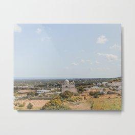 Beautiful Italian Landscape with Clear Blue Sky & Sun | Fine Art Travel Photography | Lemon & Peach Metal Print
