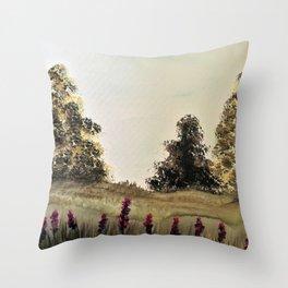 Lavender stocks Throw Pillow