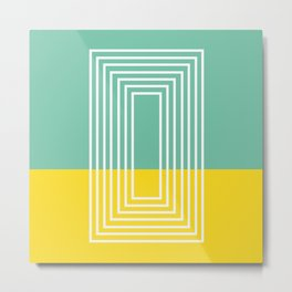 Minimal Rectangle Illusion Metal Print