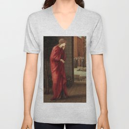 """Edward Burne-Jones """"Danaë Watching the Building of the Brazen Tower"""" Unisex V-Neck"""