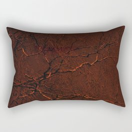 all red Rectangular Pillow