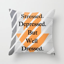 But well dressed Throw Pillow