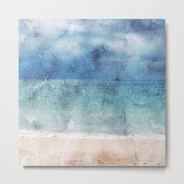 Sail Away - Beach Photo Art Metal Print