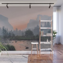 Yosemite Valley Sunrise Pretty Pink Wall Mural