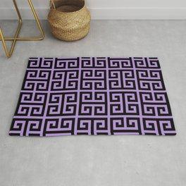 Greek Key (Lavender & Black Pattern) Rug