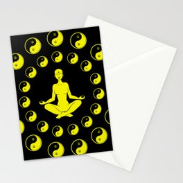 Yin And Yang Yoga Meditation Stationery Cards