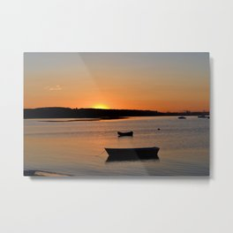 Peaceful Sunset • Pine Point Metal Print