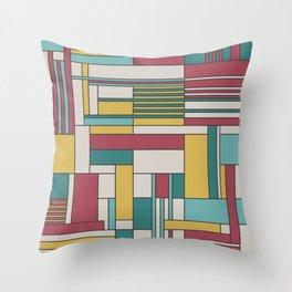 Random Rectangles Throw Pillow