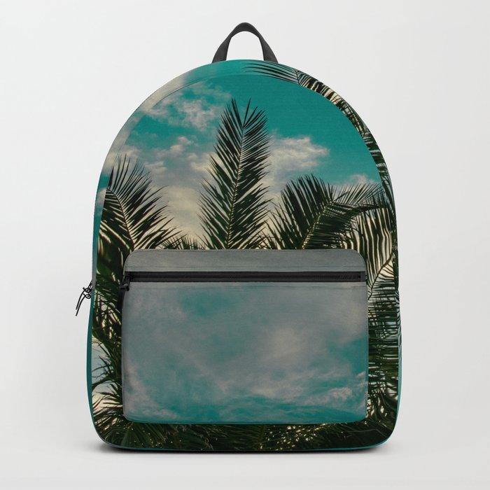 Palms on Turquoise - II Backpack