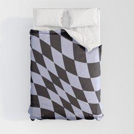 Warped Check Black Comforters