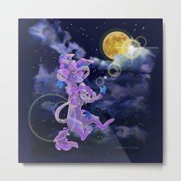 Sylveon under the moon light Metal Print