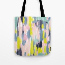 Abstract Brush Stroke Art in Modern Color Palette Tote Bag