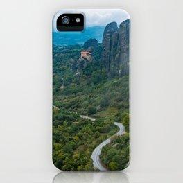 Meteora Monastery Landscape iPhone Case