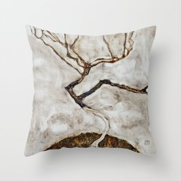 Egon Schiele - Small Tree In Late Autumn Throw Pillow