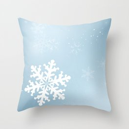 Falling Snowflake Throw Pillow