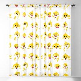 yellow baby shark Blackout Curtain