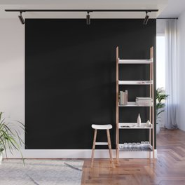Black Minimalist Solid Color Block Wall Mural