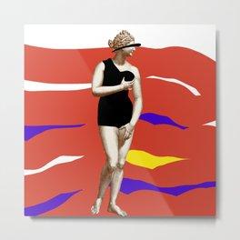 Modern Venus in a Swimsuit  Metal Print