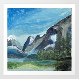 Acrylic Mountain Scene Art Print