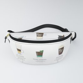 Coffee Chart - Around The World Fanny Pack