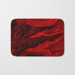 Blood Red Marble Bath Mat