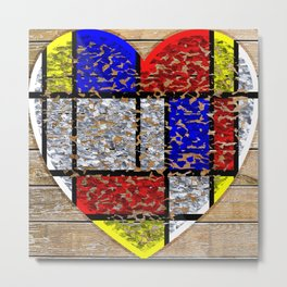 Flaky Heart Metal Print