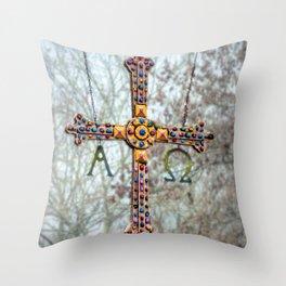 Asturias Christ's cross Throw Pillow