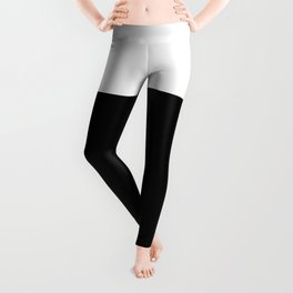 Color Block-Black and White Leggings