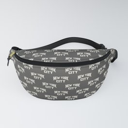 New York City Text Fanny Pack