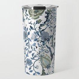Blue vintage chinoiserie flora Travel Mug