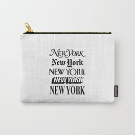 I Heart New York City Black and White New York Poster I Love NYC Design black-white home wall decor Carry-All Pouch