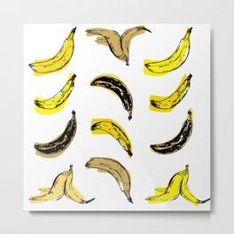 Colored Bananas Metal Print